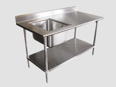Stainless Steel Washing Sink With Table